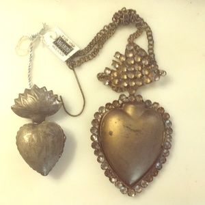 Pair of Large Heart Lockets